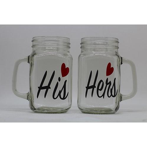 His & Hers Mason Jar Set