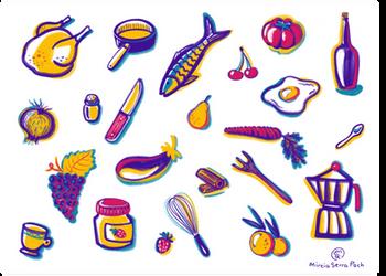 Alimentos y utensilios de cocina