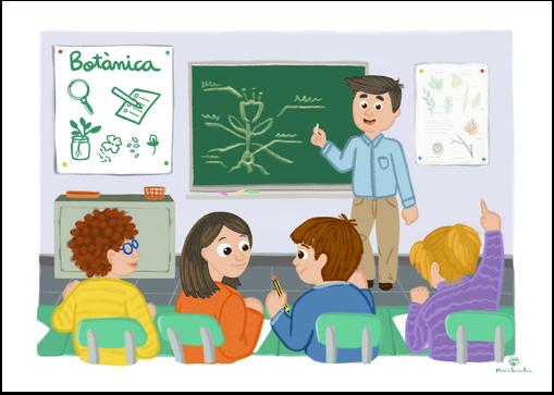 En clase de ciencias naturales