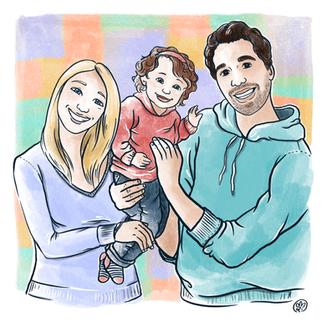 Papá, mamá y su pequeña