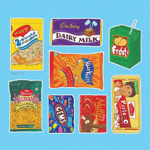 Desi Snacks - Printable
