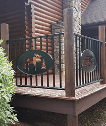 BigBear Woodworking and Plasma Art metal and wood custom metal railins and gates.