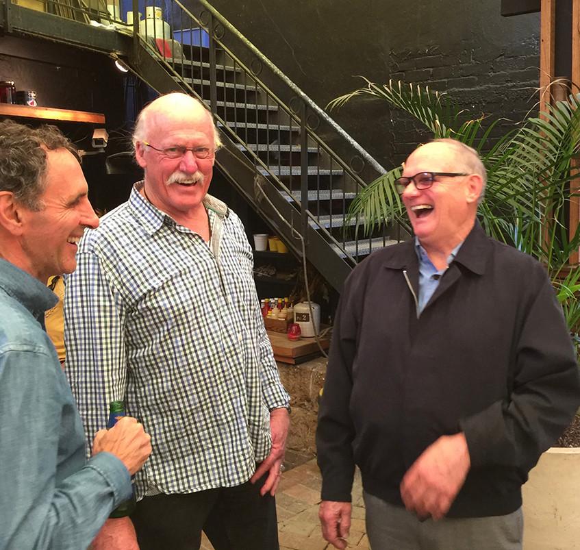 Jim Lucas, John Hansen, John Gray (right
