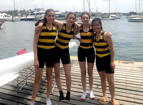 Junior girls compete at the MLC School Regatta