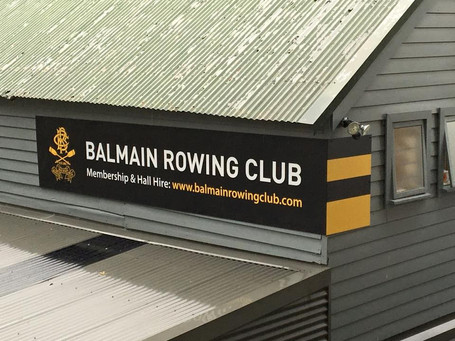 New club signage arrives in time for the Presentation Night and AGM.
