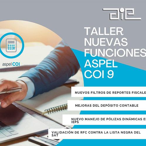 Taller Nuevas Funciones COI 9.0 Virtual