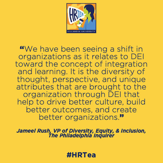 HR Tea BONUS Episode | Diversity, Equity, and Inclusion with Jameel Rush | #VillanovaHRTea