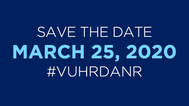 Save the Date | #VUHRDANR | March 25, 2020