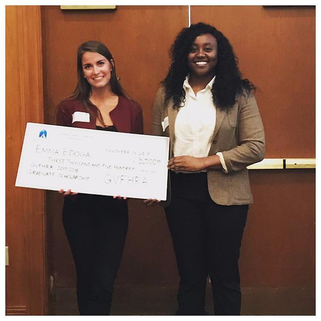 Congrats VUHRD Student, Emma Edoga, on winning the 2017 GVFHRA Graduate Scholarship!
