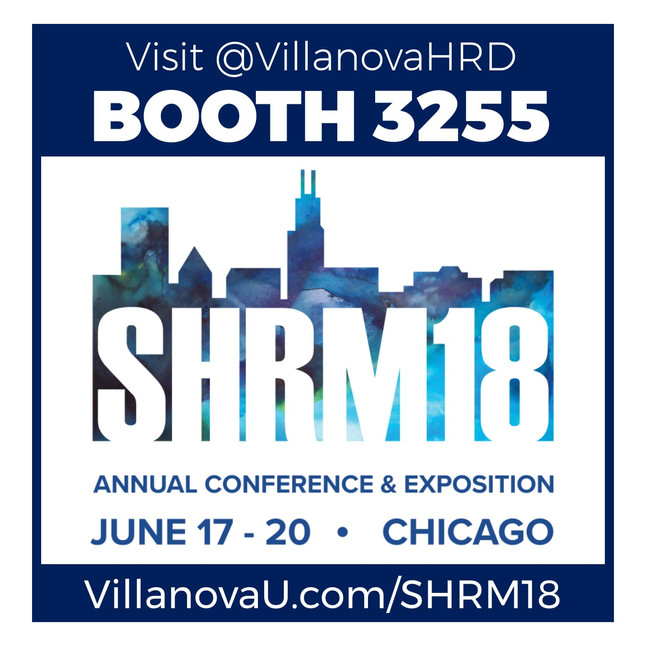 Get excited for #SHRM18! Villanova HRD will see you in Booth 3255!