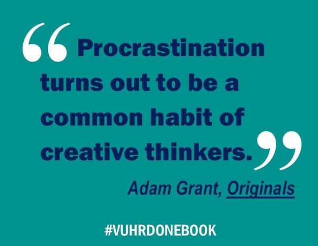 Fools Rush In | Lessons from Adam Grant's Originals | #VUHRDOneBook