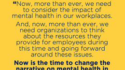 Mental Health at Work: Now is the Time to Change the Narrative | #HRTea