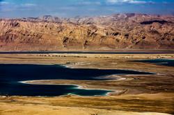 Mar morto e montanhas da Jordânia