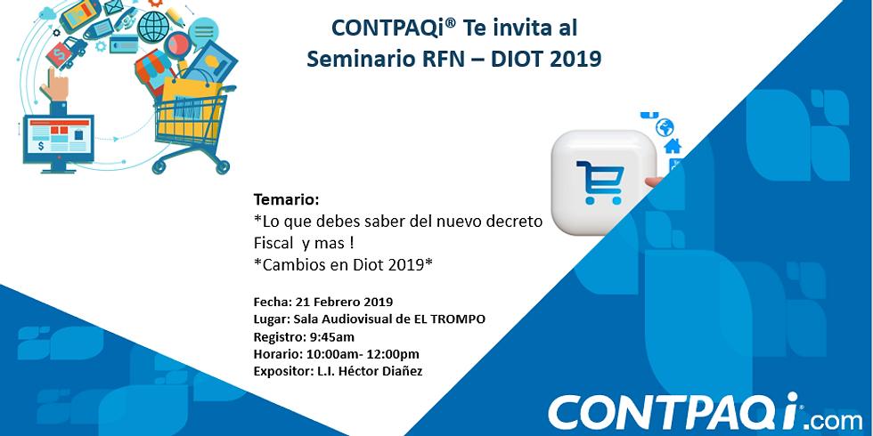 Seminiario RFN - DIOT 2019 - 21/02/19 sin costo