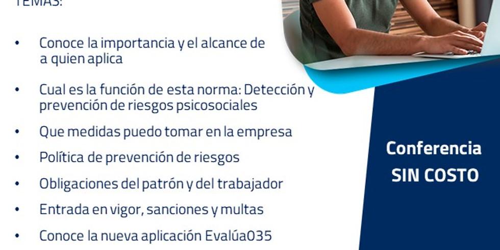Conferencia: Aplicación práctica de la NOM035-STPS-2018
