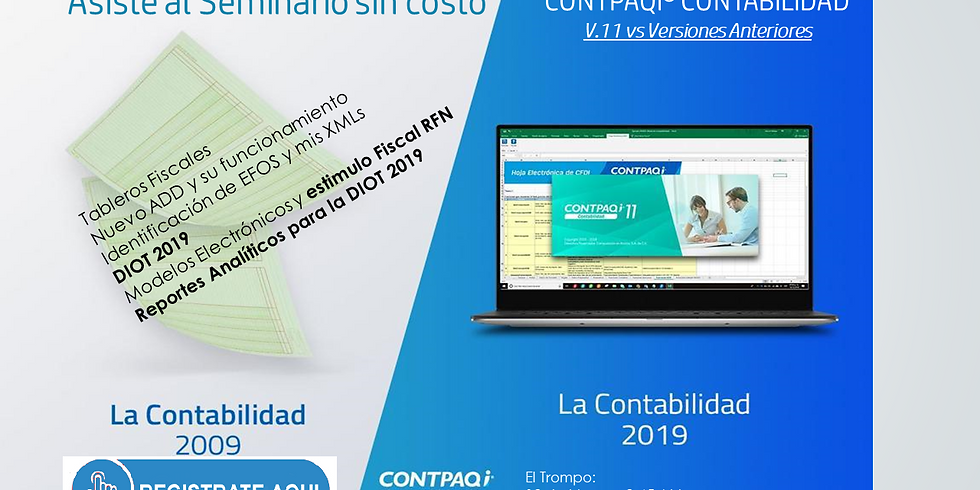 """""""Evento mensual CONTPAQi® Contabilidad 2019"""" Sin costo"""