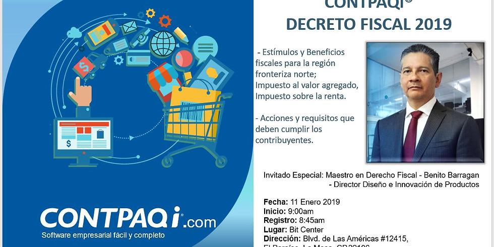 Evento gratuito CONTPAQi® Decreto Fiscal 2019