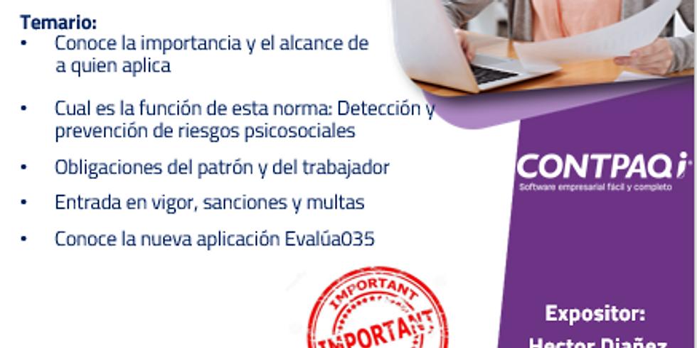 """Seminario sin costo """"CONTPAQi Evalúa 035"""""""
