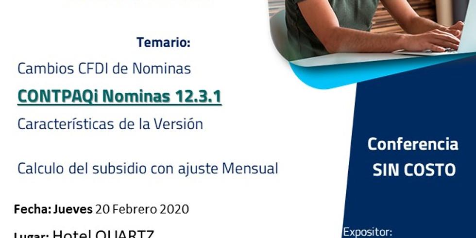 Evento sin costo CONTPAQi® - Reformas Fiscales en Nominas 2020 Jueves 20 de febrero