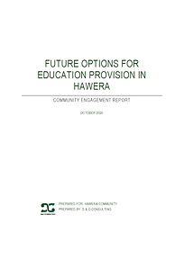 Future Options for Hawera Education Comm