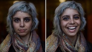 18 yr old student Shea Glover films people before and after telling them they are beautiful