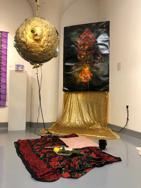 """Installation for SMFA Senior Thesis Fall 2020 Exhibition, """"From Ethos to Ether"""""""