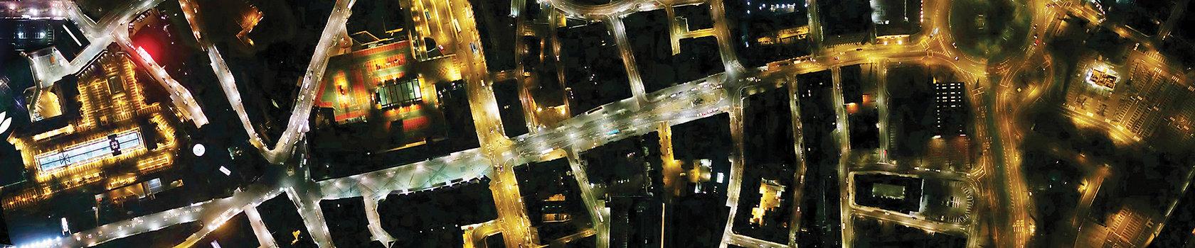 Bluesky night aerial photo