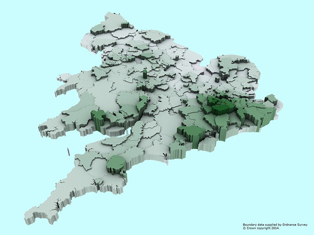 Britain's Greenest Cities and Counties Mapped from the Air by Bluesky