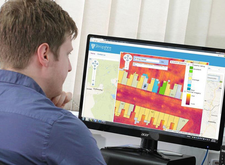 Bluesky Thermal Maps Highlight Heat Loss from Shropshire Homes and Businesses