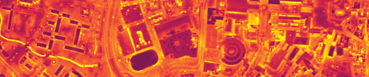 Airborne thermal survey image
