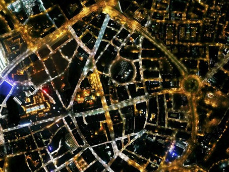 Aerial night maps of Leicester to look at energy usage
