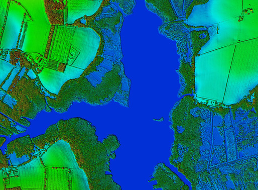 Bluesky to 3D Laser Map Environmental Features in Ireland