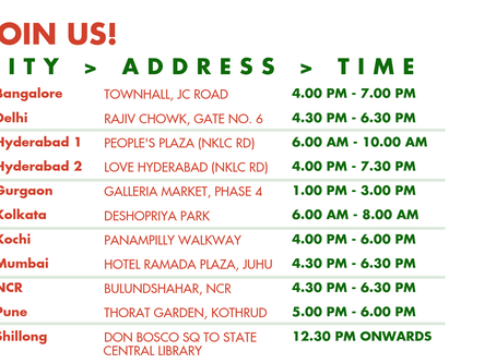 City-Wise Listings of Nation-wide Protests on the 24th May '19