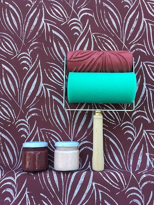 Kit colore purple rain & rose garden +Applicatore universale + rullo foglie