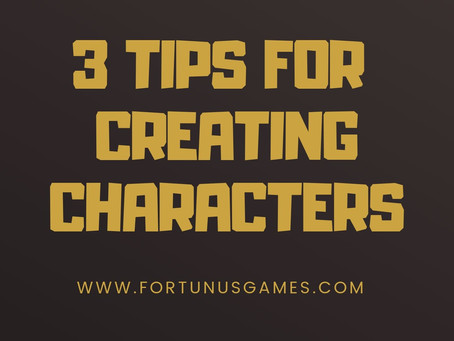 3 Tips For Creating Characters