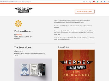 Hermes Creative Award - Gold Award 2021 - The Book of Joel
