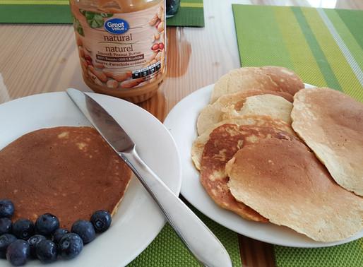 香蕉燕麥熱香餅 ( pancake ) - 無油、無糖健康早餐