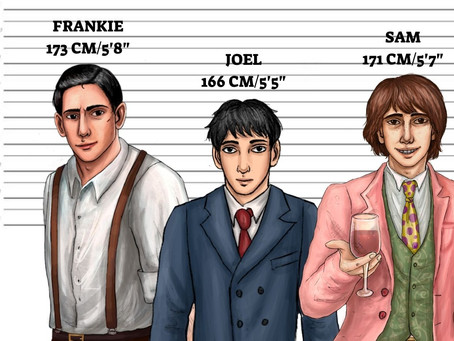 """""""Sam in New York"""" Character Heights"""