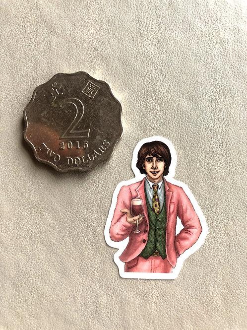 Sam in Pink Suit Sticker