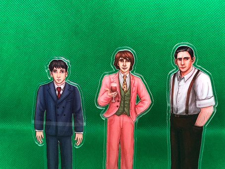Art of Yan's Standees of Sam, Frankie and Joel!