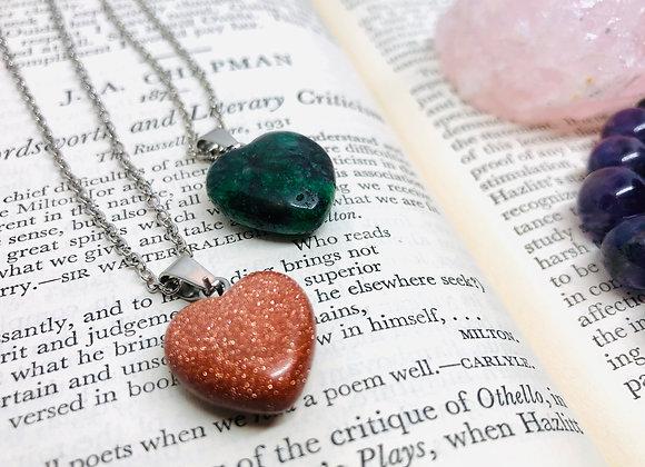 癒合靈氣心形石英項鍊 - Healing Heart Quartz Necklace