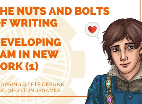 Podcast: The Nuts and Bolts of Writing: Sam in New York (1) with Tete.Depunk