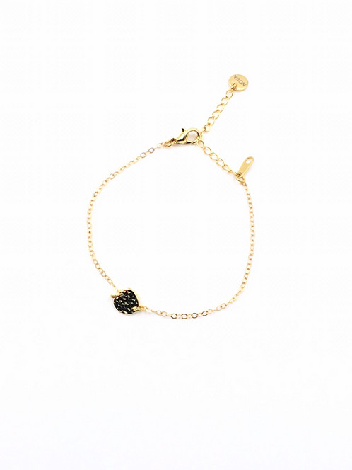 pin delicate simple karma dainty necklace gold