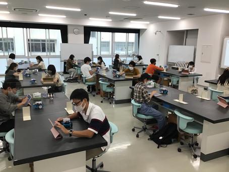 対面授業も並行実施(理科実験Ⅱ)