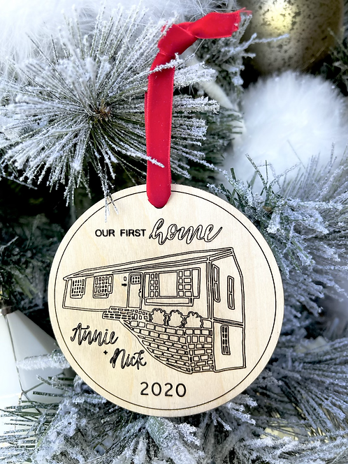 Our First Home Custom Ornament