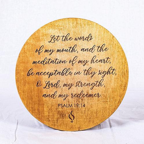 Psalm 19:14 Round