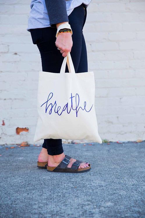 Handwritten Breathe Tote