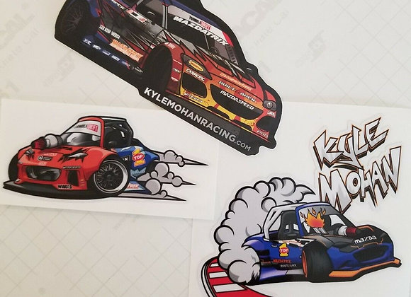 KMR Drifting MX5 & RX8 decal 3 pack, Formula Drift Limited Edition