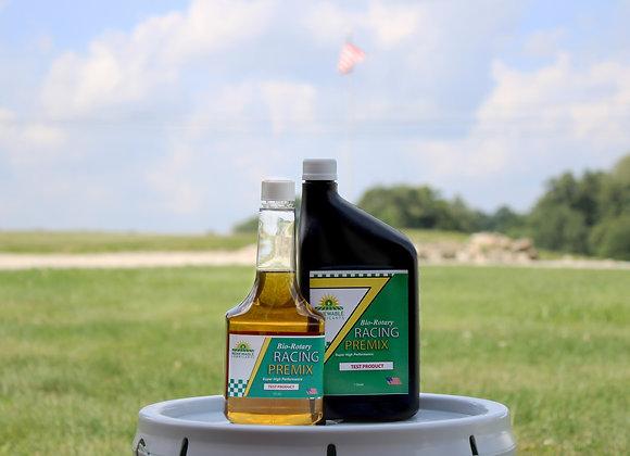 12oz bottle of Bio-Rotary Racing Premix