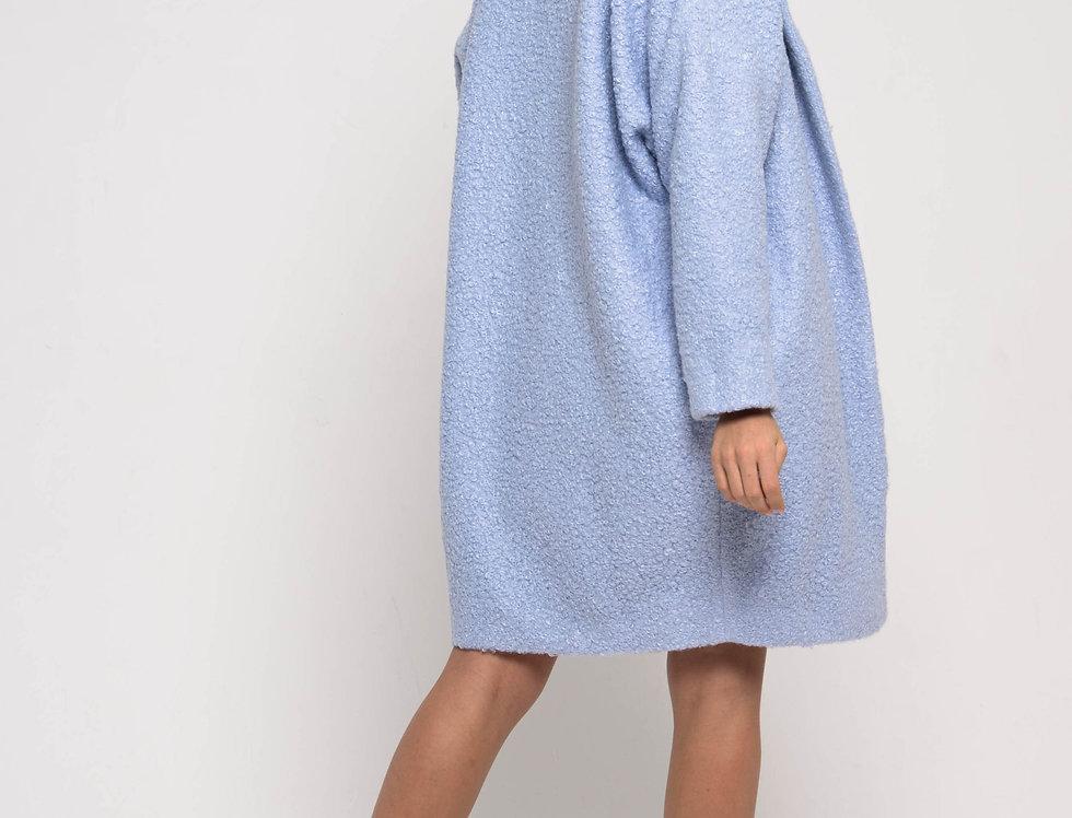 Пальто оверсайз, цвет голубой пастель